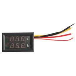 Wholesale Dc Digital Panel Voltmeter Ammeter - Wholesale-DC 0-100V Voltmeter Ammeter 10A Red LED Panel Amp Digital Volt Gauge YB27VA