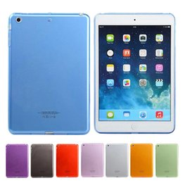 Wholesale Case Ipad Tpu Gel - Candy Color Crystal Clear Transparent Soft TPU Gel Protective Back Case Cover For iPad 2 3 4 5 6 Pro 9.7 inch Mini Mini4