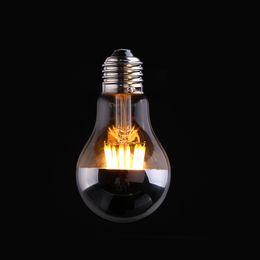 Globo led lâmpada a19 on-line-Sliver Espelho 8w Edison A19 Globe LED lâmpada Lâmpada Warm White 2700K E26 E27 Base de Regulável