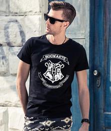 Wholesale Galaxy Print T Shirts - men Fashion 3D Galaxy HOGWARTS T-shirts Harry Potter Hogwarts Deathly Hallows T Shirts Short Sleeve Lady Top Shirts