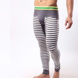 Wholesale Thermal Warm Tights - Wholesale-New arrival man tight winter wear thick thermal sexy long johns men underwear warm elastic home men's leggings pants SMTUW-394