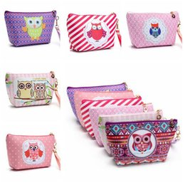 Wholesale Owl Handbags Bag - 6 Colors Candy Color Cases Travel Makeup Bags Women's Cosmetic Bag Pouch Clutch Handbag Hanging Jewelry Casual Owl Purse CCA6933 150pcs