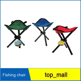 Wholesale Green Portable Chairs - Breathable Folding Chair Portable Outdoor Beach Sunbath Picnic Barbecue Party Fishing Camping Tripod Stool Super Light DHL free ship