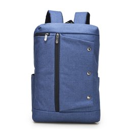 Wholesale Blue Jean Bag - Luxcel School Youth Trendy schoolbag Jean material 2016 new casual backpack for men Outdoor Hiking Camping Cycling rucksack bag