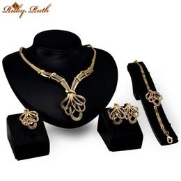 Wholesale Wedding Crystal Jewellery Sets China - Ruby.Ruth jewelry sets dubai sieraden women 18k gold plated wholesale crystal wedding bridal african necklace earing fashion jewellery set