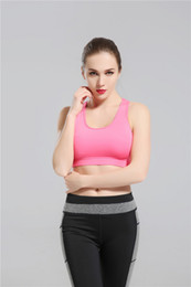 Wholesale Womens Hot Pink Tops - 2017 Hot Pink Yoga Bra Fashion Quick Dry Sportswear Womens Tops Fitness yoga sports bra Gym Clothes Free Drop Shipping sunnee
