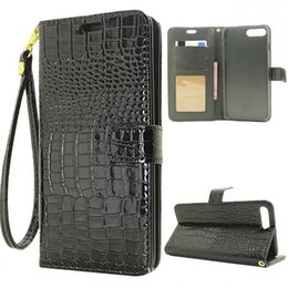 Wholesale Wholesale Flip Rhinestone Cases - For iphone 7 case crocodile flip Alligator pattern skin grain genuine leather stripe phone case cover for iphone 6 6s 7S plus cases