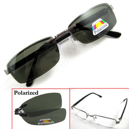 Wholesale Plastic Magnetic Clips - Magnetic Sunglasses Clip-on Polarized Spectacles Shade Sun Glasse Silvery White Black Metal Glasses Frame Eyewear Point to Read Driving 570