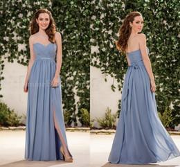 Wholesale Maid Honour - Cheap Bridesmaid Dresses 2016 Jasmine Sweetheart Sleeveless A Line Side Split Draped Long Chiffon Maid Of Honour Dresses