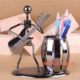 Wholesale Container Business - Wholesale-Popular Creative metal Pen holder Vase Pencil Pot Stationery Desk Tidy Container office stationery supplier business craft Gift