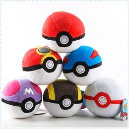 "Wholesale Pokemon Plush Dolls - Hot Sale 6 Style 5"" 12cm Poke Ball PokeBall Plush Doll Stuffed Toy Cartoon Gift for Kid A001"