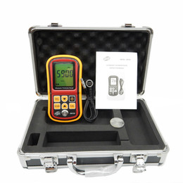 Wholesale Ultrasonic Testers - Freeshipping Digital Ultrasonic Thickness Gauge tester GM100 1.2 to 200MM Sound Velocity Meter with aluminium retail box
