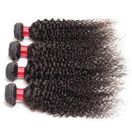 Wholesale Kinky Curly Brazillian Hair - 8a Grade afro kinky curly brazilian virgin hair 4 bundle deals Cheap Unprocessed Brazillian curly hair 100% remy human hair cheveux humain