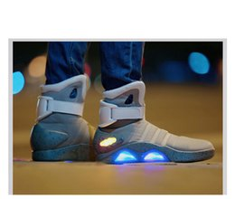 Wholesale Costumes Future - Wholesale-Mens Sports BBall Marty McFly Shoes Sneaker Shiny Air Mag Back to the Future COSplay Prop Replica High-Hop
