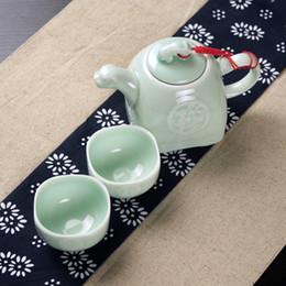 Wholesale Ceramic Stock Pots - The sale of a celadon pot and one or two cups hand pot ceramic teapot cup tea cup Quik trip