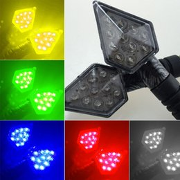 Wholesale Motorcycle Turn Signals Red - Motorcycle Accessories Turn Signals Assembly LED Lighting Decorative Light a Wildfire Turned LAMP 12V 5Color Choices