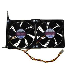 Tarjeta gráfica de video online-Al por mayor-Universal GPU Doble Ventilador Partner Ultra Quiet PCI Video Card Dual Cooler Computer Chassis PCI-e Tarjeta gráfica de enfriamiento de 9CM