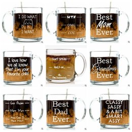 Wholesale Best Mugs - Creative BEST EVER Glass Mugs BEST EVER Mugs Magic Cup Thaksgiving Day Gifts Coffee Cups CCA8100 48pcs