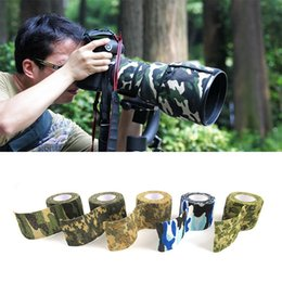 Wholesale Camo Scope - Hot 5cmx4.5m Army Camo Outdoor Hunting Shooting Scope Mounts Tool Camouflage Stealth Tape Waterproof Wrap Durable