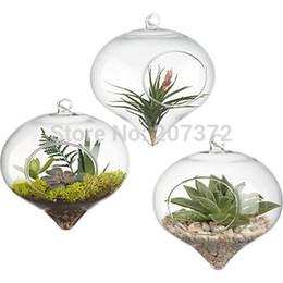 Wholesale Transparent Hanging Home Decor - 4pcs lot,Transparent Crystal Glass hanging vase, glass Wedding decoration, ware creative home decor,Free Shipping