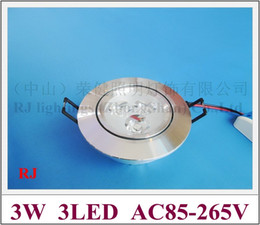 Wholesale High Power Led Project - super quality for project use high power LED ceiling light lamp 3W LED spot light with blade radiator AC85-265V 3 year warranty