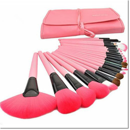 Wholesale Makeup Foundation Set - 24pcs a kit Professional Soft beauty Toothbrush Makeup Brush Sets Foundation Brushes Cream Contour Powder Blush Lip Concealer Oval Brushes