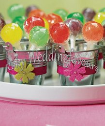 Wholesale Wholesale Tin Buckets Pails - FREE SHIPPING! Galvanized Tin Pails ,wedding favors,Candy Package, party supply party table decoration mini bucket