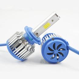 Wholesale H1 Blue Headlight Bulbs - COB LED 12V 24V H7 Car Headlight Kit Front Light Fog Bulb White 6000K Headlamp H3 H1 H11 H4 high low 9006 Replace Xenon Kit 30W*2 60W 6000LM
