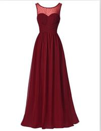 Wholesale Hot Dinner Dresses - Hot Sell Cheap Long Burgundy Prom Dresses Sleeveless V-Back Chiffon Ombre Dress Strazz Ruched Dinner Dress Prom Gowns 2016 new arrival