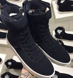 Wholesale Sneaker 34 - DHL Free Size 34-46 Fear of God Military Sneaker Black Nylon Jerry Lorenzo Fog Made In Italy military boots Winter boots