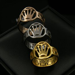 Wholesale African Jewelery - New arrival 316L Titanium steel Ring with hand shape crown band ring brand jewelery for women and man gifts PS5519