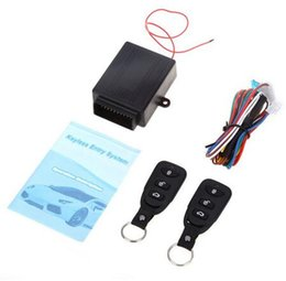 Wholesale Remote Car Door Kit - DHL Free Shipping Universal Car Auto Remote Central Kit Door Lock Locking Vehicle Keyless Entry System New With Remote Controllers