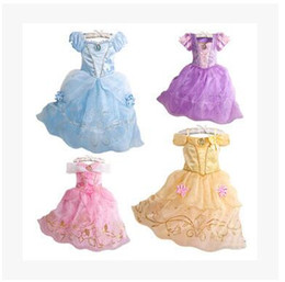 Wholesale Rapunzel Tangled Cosplay - Exclusive dress Children role play Tangled dresses purple Rapunzel costume Halloween party Cosplay dress baby girls