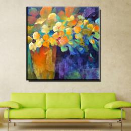 Wholesale Flower Vases Oil Painting - ZZ1892 modern decorative canvas art abstract flower in vase canvas oil paintings for livingroom bedroom decoration unframed art