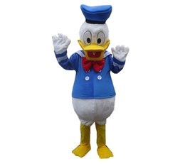 Wholesale Donald Duck Mascot Costumes - free shipping custom costumes ball Donald Duck and Daisy Mascot Costumes Cartoon dolls Imitation clothing