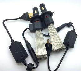 Wholesale Dual Beam Xenon H4 - CREE Dual beam 60W 6000LM H4 HB2 9003 LED Headlight Kit Driving Fog Lamp Bulbs 6000K xenon White Auto DRL Light Sourcing replace HID