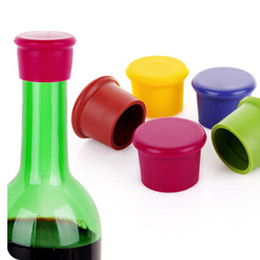 Wholesale Rubber Stopper Bottles - Silicone Wine Bottle Stoppers Kitchen Bar Tools