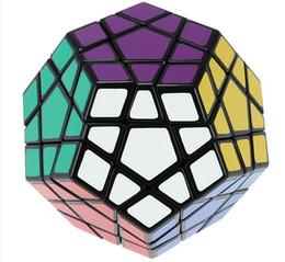 Wholesale Megaminx Cube - Shengshou Megaminx Magic Cubes Pentagon 12 Sides Gigaminx PVC Sticker Dodecahedron Toy Puzzle Twist Educational Toys For Kids
