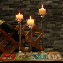 Wholesale Praying Candle - Small Glass Pray Candle Holder Set Decorative Wedding Candle holder Wedding Home Bar Party Decoration Ornaments