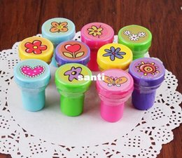 Wholesale Inked Girls - Hot 60 pcs lot Self-ink Stamps Kids Party Favors Supplies for Birthday Christmas Gift Boy Girl Goody Bag Pinata Fillers Fun Stationery