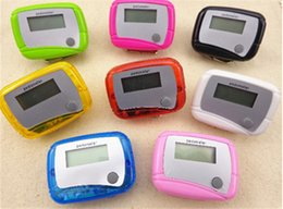 Wholesale Digital Lcd Pedometers - LCD Pedometer Mini Single Function Pedometer Step Counter LCD Run Step Pedometer Digital Walking Counter Multi Color