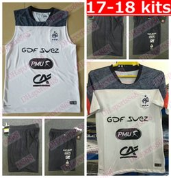 Wholesale Football Training Vests - Best quality 2017 national team training white vest short-sleeve soccer jersey shorts Football shirt Size S-XXL