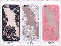 Wholesale Pink Lace Iphone Case - Flower Lace Case For Iphone X 8 7 7Plus 4.7 6 6S Plus SE 5 5S Henna Paisley Mandala Dreamcatcher Clear Feather Hard Plastic+Soft TPU Gel