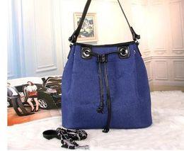 Wholesale Pvc Channels - luxury handbags women bags designer canvas Drawstring bucket bag famous brands channel bag fabric shoulder bags female crossbody sac