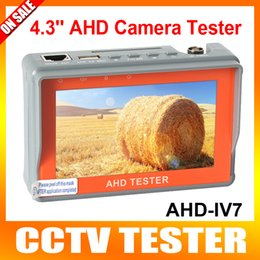 "Wholesale 12v Security Cameras - Security AHD&CVBS Analog Camera CCTV Tester 4.3"" LCD Monitor Video Audio Wrist strap 1080P 960P 720P UTP cable test 5V  12V Output"
