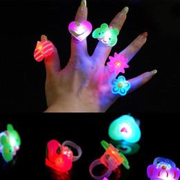 Wholesale Led Finger Light Party Favors - Colors Blinking LED Light Up Jelly Finger Rings Christmas Halloween Party Favors Glow Rings Children'Day High Quality Finger Toys