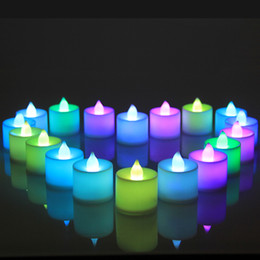 Wholesale Flameless Led Candles For Wholesale - Simulation Electronic Candle Wedding Birthday Party Ornament Colourful For LED Light Bougie Household Decoration Gifts 1 9hf C R