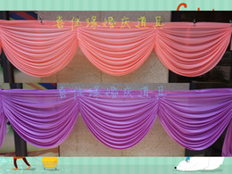 Wholesale Wholesale Decorating Supplies - valance decorate swags of backdrop Party Curtain tableapron swags decoration of the background