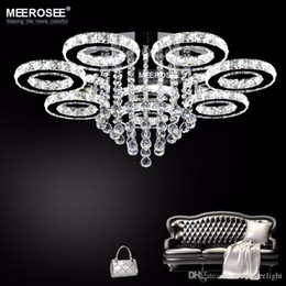 Wholesale Drop Lamp Crystal - Modern Chandelier Light Fixture LED Ceiling light Lighting Crystal Flush Mounted Lamp Dining Lighting Drop Lamp LED Home Fitting