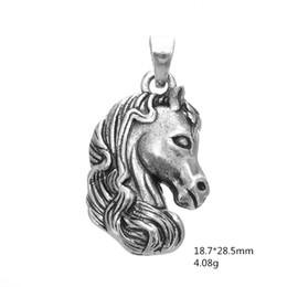 Wholesale Head Horses - My shape Antique Silver Plated Horse Head DIY Bracelet Charm Jewelry Animal Charm for Men & Women